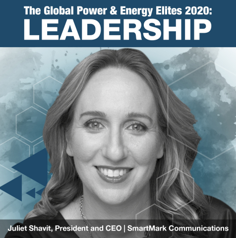 Juliet Shavit, President and CEO of SmartMark Communications, makes 2020 Global Power & Energy Elites list (Photo: Business Wire)