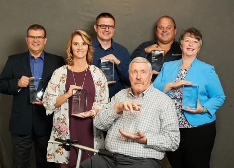 The 2019 Sensus Reach Award recipients include customers from Alliant Energy and Park City, UT, distributors from Aqua-Metric and Ferguson Waterworks and Sensus employees. (Photo: Business Wire)
