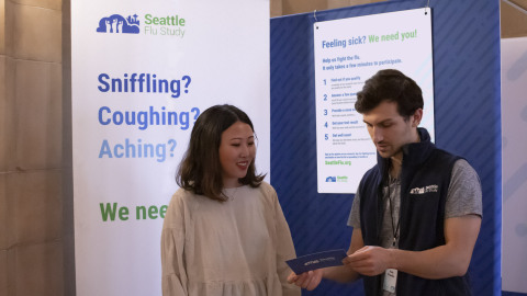 Participants can sign up for the Seattle Flu Study at a number of our kiosks located throughout Seattle (Photo: Business Wire)