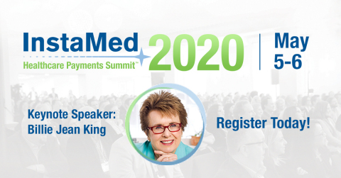 Legendary tennis player and social justice champion Billie Jean King will deliver the opening keynote for the InstaMed Healthcare Payments Summit 2020. (Graphic: Business Wire)