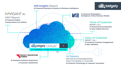 As the energy industry's only artificial intelligence (AI) platform for hyper-personalization, Bidgely has developed the world's most accurate and actionable customer energy insights based on actual energy habits that are continuously improved and personalized with each interaction. (Graphic: Business Wire)