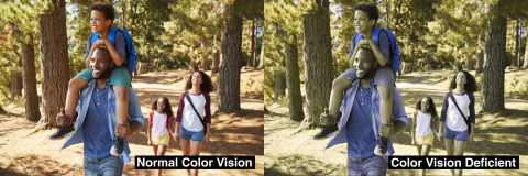 EnChroma lens technology for color blindness will be available in scenic viewers manufactured by SeeCoast Manufacturing Company; enabling people with color blindness to better enjoy the beauty of outdoor color at state parks, scenic overlooks and other locations. (Photo: Business Wire)