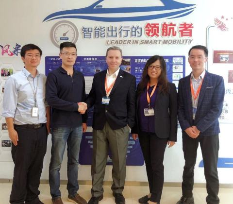 Quanergy and Geely formalize their partnership. (Photo: Business Wire)