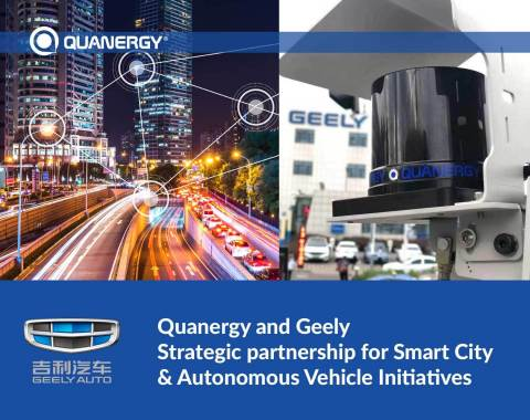 Quanergy and Geely Strategic Partnership for Smart City & Autonomous Vehicle Initiatives (Graphic: Business Wire)