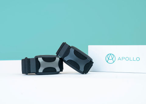Apollo is the first wearable that actively helps the body beat stress, for better sleep, energy, and more. (Graphic: Business Wire)