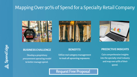 Mapping Over 90% of Spend for a Specialty Retail Company.