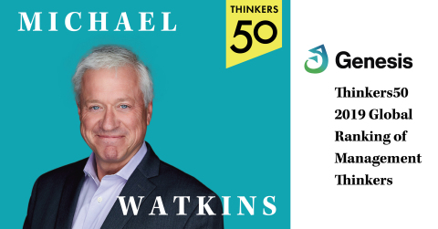 The First 90 Days and Master Your Next Move author Michael Watkins named one of the world's most influential business thinkers. (Photo: Business Wire)