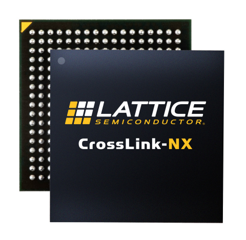 The new CrossLink-NX FPGA from Lattice Semiconductor (Graphic: Business Wire)