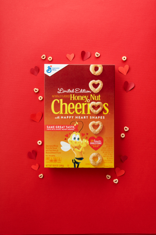 Honey Nut Cheerios Changes Iconic O's into Heart Shapes (Photo: Cheerios)