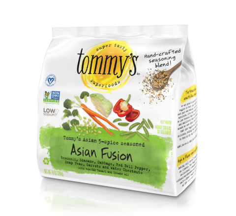 """Asian Fusion is a blend of 7 veggies with extraordinary taste and texture, as well as non-GMO Tamari and seasoned with a proprietary, hand-crafted """"Asian 5-spice"""" blend including black sesame seeds. Asian Fusion is not only delicious, but a nutritional powerhouse and a good source of plant protein. (Photo: Business Wire)"""