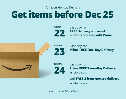 Get items before December 25 (Graphic: Business Wire)
