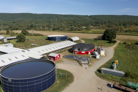 A Vanguard Renewables Farm Powered anaerobic digester at a farm in Deerfield, Mass. Vanguard will build and operate dairy-based digesters as part of a strategic partnership with Dominion Energy. (Photo: Business Wire)