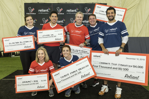 Houston-area media personalities participated in a friendly game of flag football to earn $11,000 for their selected nonprofits at the third annual Reliant Charity Flag Football Game. (Photo: Business Wire)
