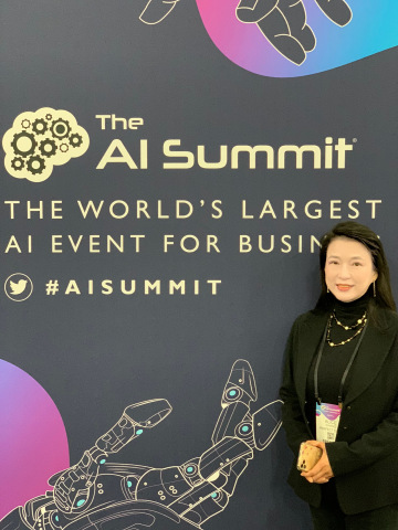 Perfect Corp. founder and CEO, Alice Chang, at the AI Summit New York. (Photo: Business Wire)