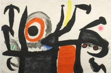 Joan Miró's The Bullfighter Move (Aquatint and Carborundum) is on display in Prime 7, the ship's premier steakhouse, on board Seven Seas Splendor. (Photo: Business Wire)