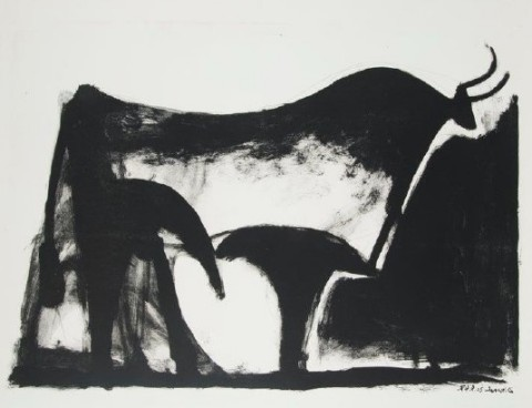 Pablo Picasso's Le Taureau Noir (Lithograph) is on display in Prime 7, the ship's premier steakhouse, on board Seven Seas Splendor. (Photo: Business Wire)