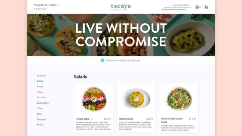 Tocaya digital ordering (Graphic: Business Wire)