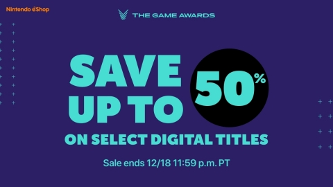 From now until Dec. 18 at 11:59 p.m. PT, players can save up to 50% off select Nintendo Switch digital games, including titles that have received top honors throughout the history of The Game Awards. (Graphic: Business Wire)