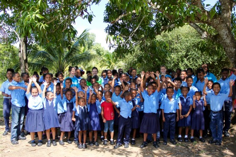 In partnership with UNICEF Goodwill Ambassador and Crocs Global Brand Ambassador Priyanka Chopra Jonas, Crocs recently donated 25,000 pairs of Classic Clogs to underserved school children in Belize through UNICEF. This is the first of two donations to be made to this region through this partnership. A total of 50,000 pairs will ultimately be donated over the next year. (Photo: Business Wire)