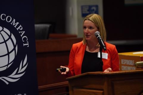Лорен Гула, старший менеджер, Социальная устойчивость и расширение прав и возможностей женщин, Глобальный договор ООН (Фото: Mary Kay Inc.)