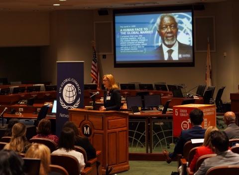 Sue Allchurch, Chief of Outreach, UN Global Compact (Photo: Mary Kay Inc.)