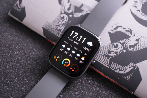 The new Amazfit GTS smartwatch with its eye-catching 1.65-inch high-resolution AMOLED display combines health, fitness and fashion for only $149.99. (Photo: Business Wire)