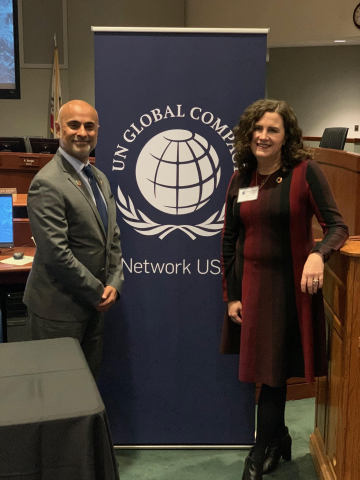 Deborah Gibbins, COO at Mary Kay with Sanjeev Khagram, Director General and Dean, Thunderbird School of Global Management, Arizona State University (Photo: Mary Kay Inc.)