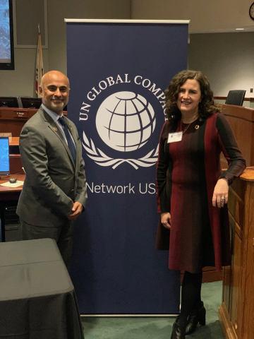 Deborah Gibbins, COO at Mary Kay with Sanjeev Khagram, Director General and Dean, Thunderbird School of Global Management, Arizona State University (Photo: Mary Kay Inc.)