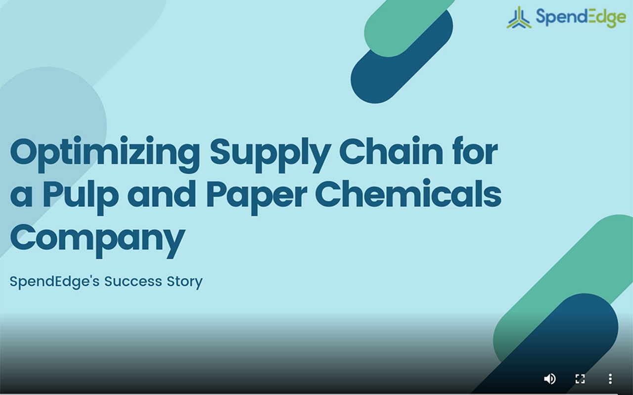 Optimizing Supply Chain for a Pulp and Paper Chemicals Company.