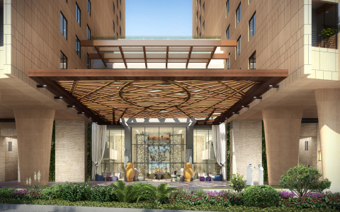 Entrance of Andaz Dubai The Palm (Photo: Business Wire)