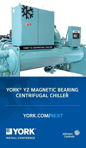 YORK® YZ Magnetic Bearing Centrifugal Chiller (Photo: AETOSWire)