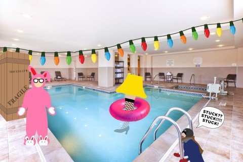 Dip your toes — or your entire leg! — into the indoor saltwater pool. (Photo: Business Wire)