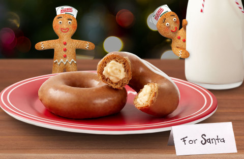 Krispy Kreme Debuts NEW Gingerbread Glazed Original Filled with Cheesecake and Brings Back Gingerbread Glazed Doughnut to Help Santa Save the Gingerbread People of America (Photo: Business Wire)