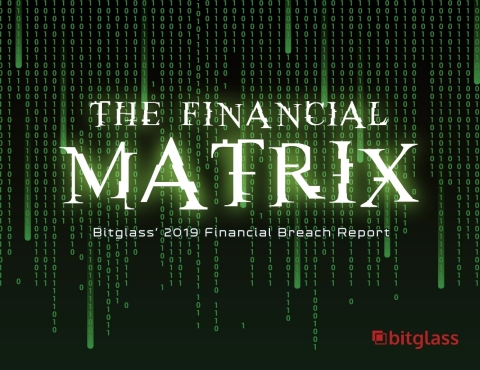 Bitglass releases its 2019 Financial Breach Report: The Financial Matrix. (Graphic: Business Wire)