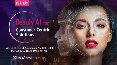Perfect Corp.'s YouCam, previews advanced AI & AR beauty technologies for consumers, brands and retailers. (Graphic: Business Wire)