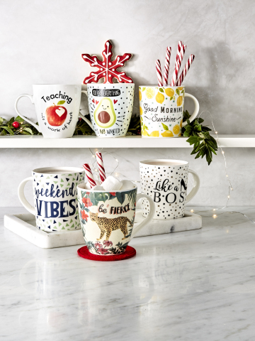 Macy's has you covered with unique and thoughtful last-minute gifts in every price range this holiday season; Pfaltzgraff Mugs, $7.00. (Photo: Business Wire)