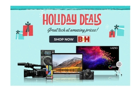B&H offers last-minute savings with fast, free shipping in time for the holidays (Photo: Business Wire)