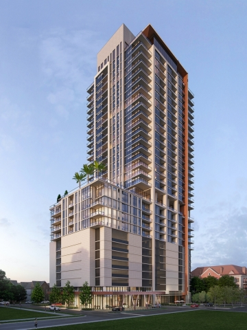 Two Hermann Place in Houston TX. A Nitya Capital and Tema Development LLC project breaking ground in Q1 of 2020. (Photo: Business Wire)