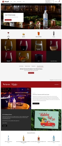 GREY GOOSE® vodka holiday eCommerce ad campaign featured on Southern Glazer's Proof™ digital B2B eCommerce platform. (Photo: Business Wire)