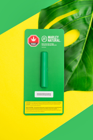 Marley Natural will launch in Canada with Marley Green vape cartridges containing CO2 winterized hybrid cannabis oil with no additional additives or flavours. (Photo: Business Wire)