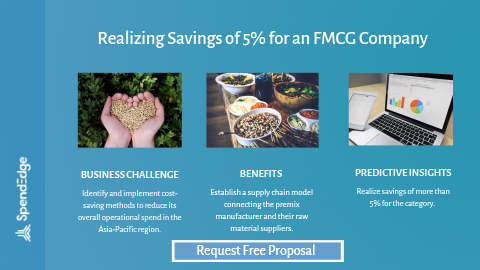 Realizing Savings of 5% for an FMCG Company.
