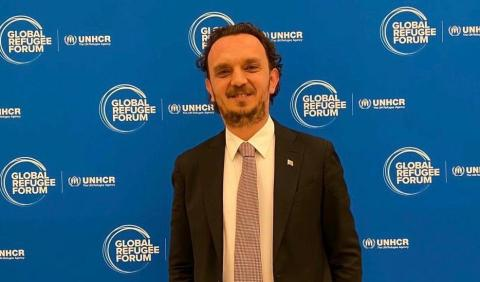Turkcell CMO Omer Barbaros Yis participated the Connectivity Panel held ahead of the first Global Refugee Forum. (Photo: Business Wire)