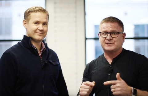 Sigstr CEO Bryan Wade and Terminus CEO Tim Kopp announce strategic acquisition (Photo: Business Wire)