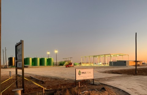 Milestone's state-of-the-art slurry injection facility in Big Spring boasts six covered bays and is designed to provide customers with a cost-efficient and environmentally responsible option for their oilfield waste disposal needs. (Photo: Business Wire)