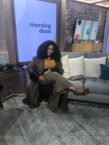 Katrina Walker on the set of Morning Dose in Houston. (Photo: Business Wire)