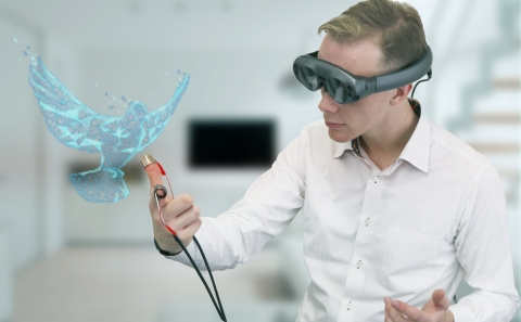 AR × e-Rubber Haptics (Photo: Business Wire)