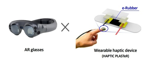 AR glasses × Wearable haptic device (Graphic: Business Wire)