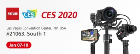 Visit Zhiyun during CES 2020, from January 7th to January 10th Las Vegas Convention Center, South Hall 1, Booth 21063 (Photo: Business Wire)