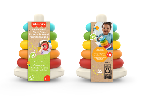 Environmentally sustainable version of the iconic Fisher-Price® Rock-a-Stack® (Photo: Business Wire)