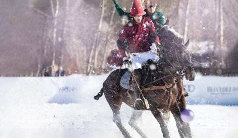 The Aspen World Snow Polo Championship annually draws a high-profile audience of polo fans from around the world to view some of the world's finest players. Each year, more Flexjet Owners travel to Aspen from locations across the globe as the festival's popularity continues to increase. (Photo: Business Wire)